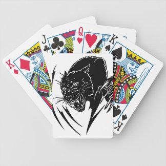 Pantera negra salvaje baraja de cartas