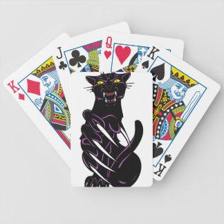 Pantera negra salvaje cartas de juego