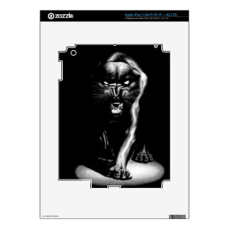 Pantera negra y la piel de Boss Zazzle iPad 3 Skins