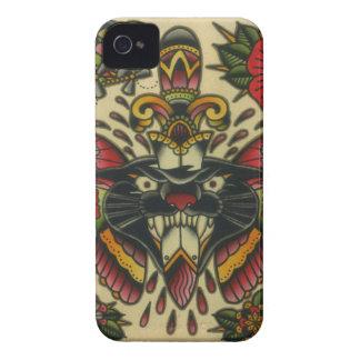 pantera y daga iPhone 4 carcasa