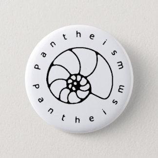 Pantheism black and white button