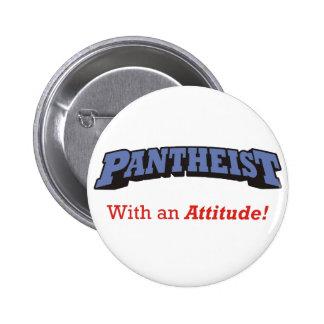 Pantheist/actitud Pin Redondo De 2 Pulgadas