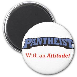 Pantheist / Attitude 2 Inch Round Magnet