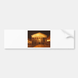 Pantheon at night bumper sticker
