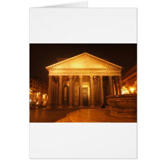 Pantheon at night card