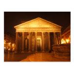 Pantheon at night postcard