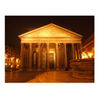 Pantheon at night postcard
