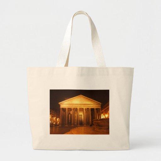 Pantheon at night tote bags