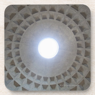 Pantheon  ceiling, low angle wide angle view coaster