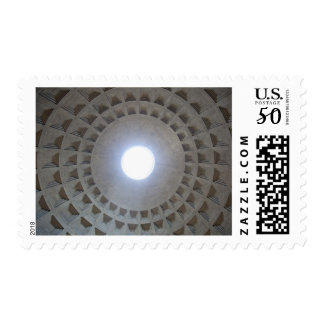 Pantheon  ceiling, low angle wide angle view postage