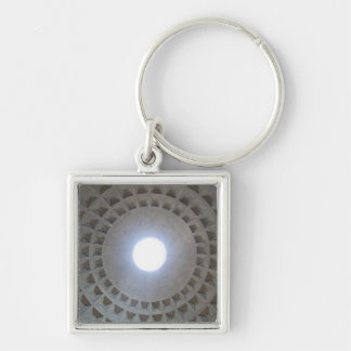 Pantheon  ceiling, low angle wide angle view Silver-Colored square keychain