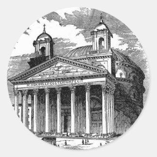 Pantheon Classic Round Sticker