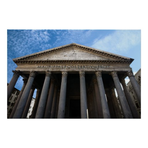 pantheon in rome poster