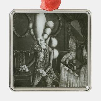 Pantheon Macaroni, 1773 Metal Ornament