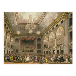 Pantheon Masquerade from 'Ackermann's Microcosm Postcard
