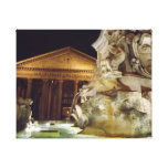 Pantheon Rome at night Gallery Wrapped Canvas