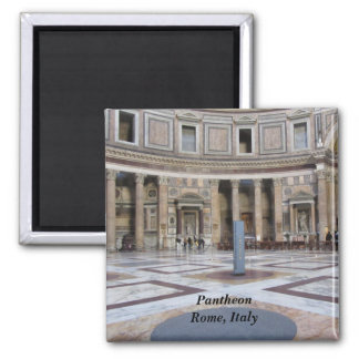 Pantheon, Rome, Italy 2 Inch Square Magnet