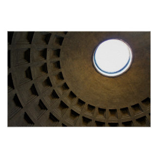 Pantheon Roof in Rome, Italy Poster