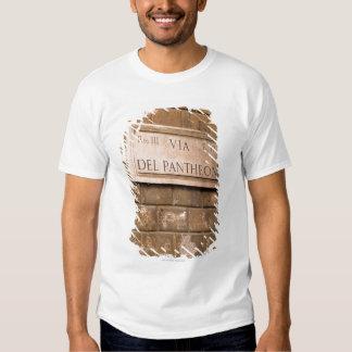 Pantheon sign, Rome, Italy 2 Shirt