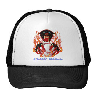 Panther-Baseball-1-Black-T Trucker Hat