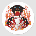 Panther-Baseball-1White-T-2 Classic Round Sticker