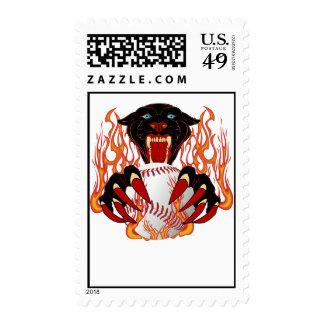 Panther-Baseball-1White-T-2 Postage Stamp