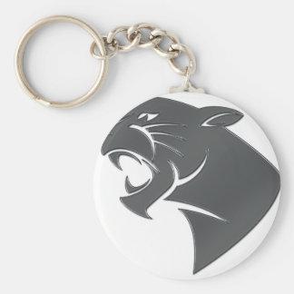 Panther Basic Round Button Keychain