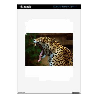 Panther Bearing Teeth iPad 3 Decals