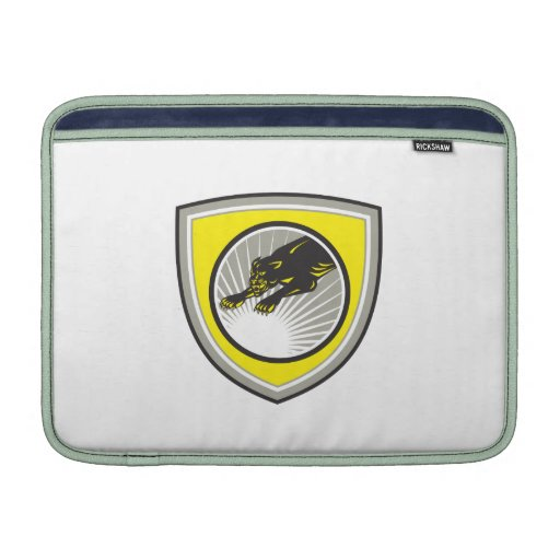 Panther Big Cat Growling Crest Sleeves For MacBook Air