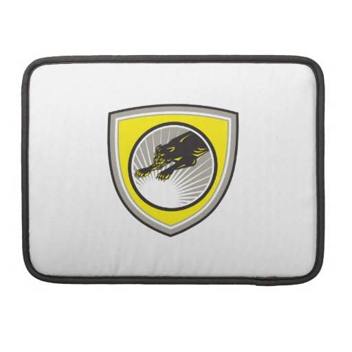 Panther Big Cat Growling Crest Sleeves For MacBook Pro