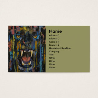 Panther Business Card