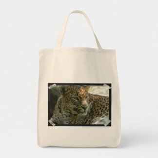 Panther Cat Grocery Tote Tote Bags