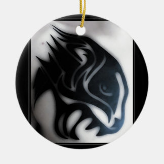 panther ceramic ornament