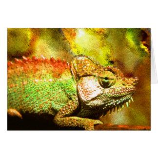 Panther chameleon Digital art Card