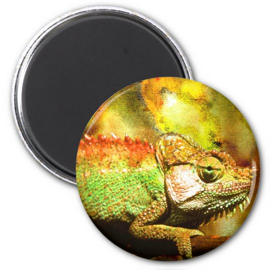 Panther chameleon Digital art Magnet