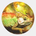 Panther chameleon Digital art Stickers