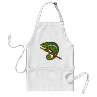 Panther Chameleon Digital Painting Adult Apron