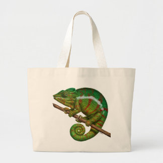 Panther Chameleon Digital Painting Large Tote Bag