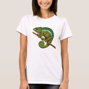 63ee3127e3e07b Panther Chameleon Digital Painting T-Shirt