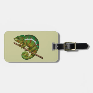 Panther Chameleon Digital Painting Tag For Luggage