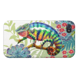 Panther Chameleon in Jungle iPhone Case