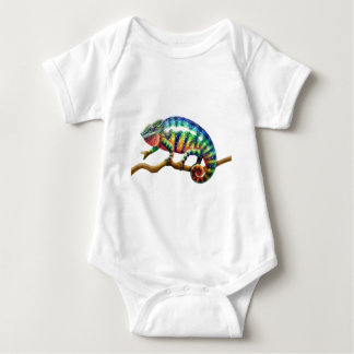 Panther Chameleon Lizard Baby Bodysuit