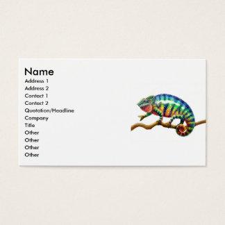 Panther Chameleon Lizard, Name, Address 1, Addr... Business Card