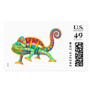 Panther Chameleon Lizard Postage Stamps