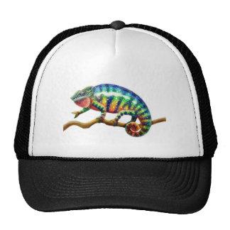 Panther Chameleon Lizard Trucker Hat