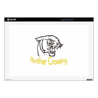 """Panther Crossing 17"""" Laptop Skin"""