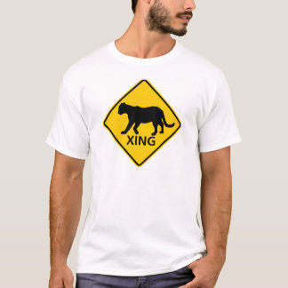 Panther Crossing Highway Sign T-Shirt