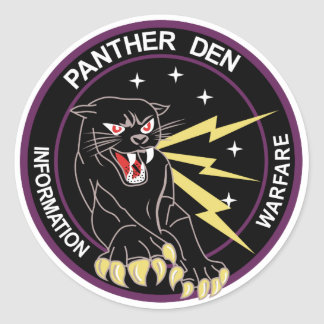 Panther Den Information Warfare Classic Round Sticker
