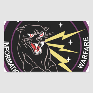 Panther Den Information Warfare Rectangular Sticker