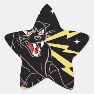 Panther Den Information Warfare Star Sticker